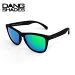 10%OFF DANG SHADES ダンシェイディーズORIGINAL RAISED Black soft x Green Mirror