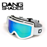 35%OFF DANG SNOW ホワイト Gloss White Frame×Clear Blue Mirror ゴーグル DANG SHADES