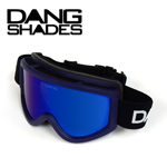 40%OFF DANG SNOW ネイビー Matt Navy Purple Frame×Blue Mirror ゴーグル DANG SHADES