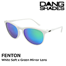 DANG SHADES ダンシェイディーズ FENTON White Soft x Green Mirror Lens