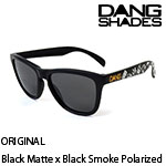10%OFF DANG SHADES ダンシェイディーズORIGINAL Black Matte x Black Smoke Polarized(偏光レンズ)Yuya Akada Design